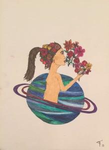 Dibujo de Tamara Suárez Estrada